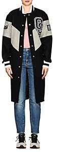 Opening Ceremony Women's Wool-Blend Long Varsity Jacket - Black