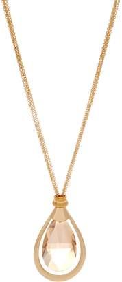 "Susan Graver 34"" Crystal Teardrop Multi-Strand Necklace"