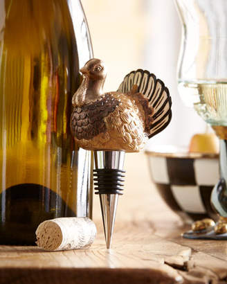 Mackenzie Childs MacKenzie-Childs Autumn Harvest Turkey Bottle Stopper