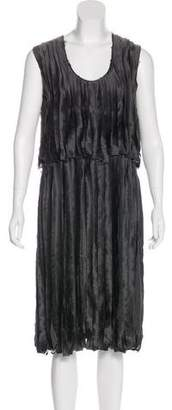 Lanvin Silk Fringed Dress