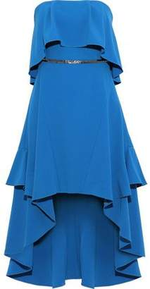 Halston Strapless Bead-embellished Stretch-crepe Mini Dress