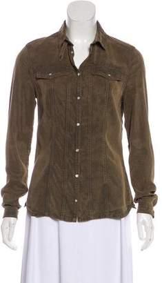 Burberry Long Sleeve Woven Top