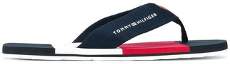 Tommy Hilfiger canvas strap flip flops