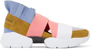 Emilio Pucci Yellow and Blue City Up Sneakers