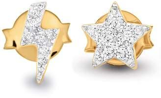 Missoma Pave Star & Lightning Stud Earrings