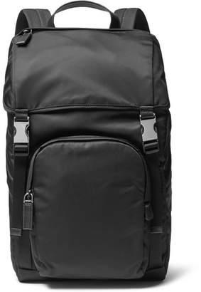 Prada Leather-Trimmed Nylon Backpack