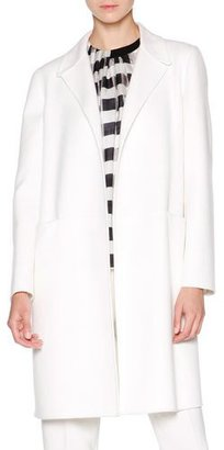 Giorgio Armani Double-Face Cashmere Coat, White $7,100 thestylecure.com