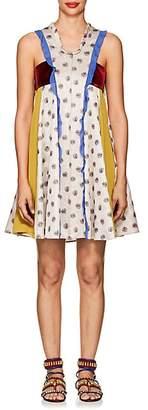Valentino Women's Patchwork A-Line Dress - Silver