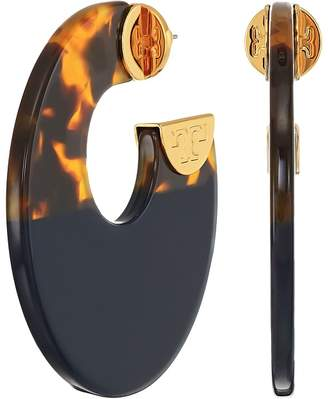 Tory Burch Resin Color Block Hoop Earrings Earring