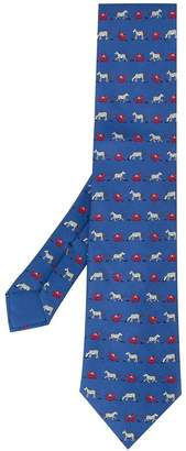 Hermes Pre-Owned 2000's small horses tie