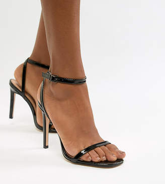 Public Desire Notion black barely there sandals