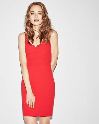 Express Lace Corset Detail Sheath Dress