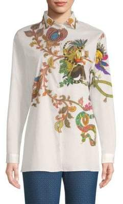 Etro Paisley Lemur Button-Down Shirt
