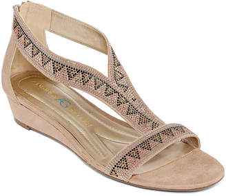 Andrew Geller Womens Irene Wedge Sandals