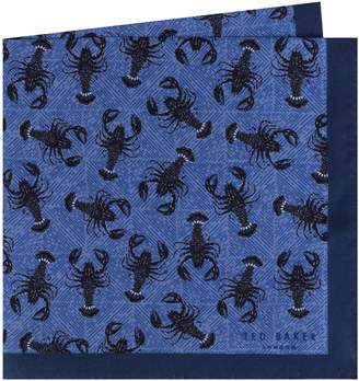 Ted Baker Scorpion Silk Pocket Square