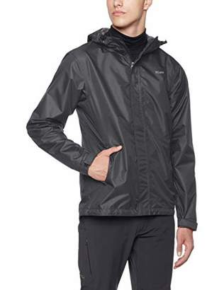 5Oaks Mens Rain Jacket Waterproof Raincoat Hooded Packable Anorak XL