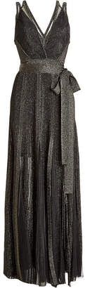 Elie Saab Metallic Thread Dress