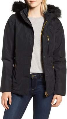 Barbour International Aragon Waterproof Breathable Faux Fur Trim Jacket