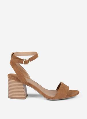 Dorothy Perkins Womens Wide Fit Tan 'Shady' Block Heeled Sandals