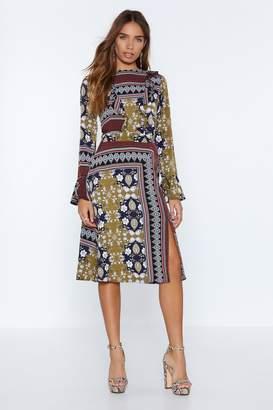Nasty Gal All Good Things Mixed Print Dress