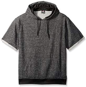 Southpole Men's Short Sleeve Marled French Terry Hooded Pullover