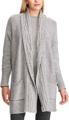 Chaps Women's Cotton-Blend Shawl Cardigan