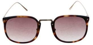 Linda Farrow Square Gradient Sunglasses