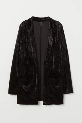 H&M Crushed-velvet Jacket - Black