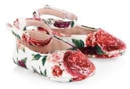 Dolce & Gabbana Kid's Floral Ballet Flat