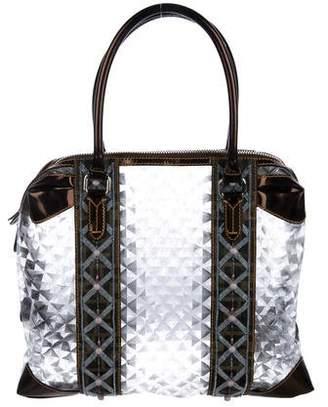 Fendi Embellished PVC Tote