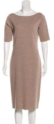 Blumarine Wool Midi Bodycon Dress