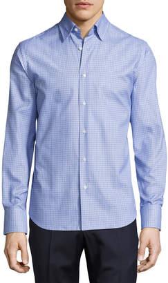 Neiman Marcus Tight-Circle Sport Shirt, Blue/Navy