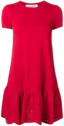 Valentino eyelet skirt mini dress