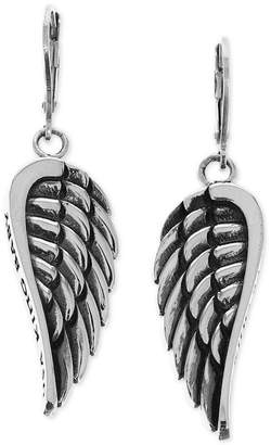 King Baby Studio Women's Wing Drop Earrings in Sterling Silver