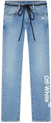 Off-White Off White Skinny Logo Jeans