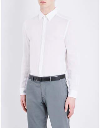 HUGO BOSS Regular-fit linen shirt