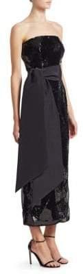 Alice + Olivia Brandon Maxwell Strapless Sequin Dress