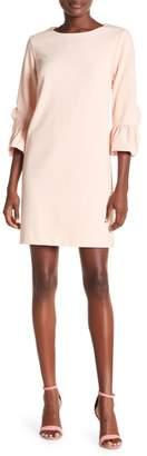 Nanette Lepore NANETTE Ruffle Sleeve Solid Dress