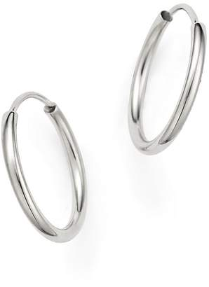 Bloomingdale's 14K White Gold Endless Hoop Earrings - 100% Exclusive