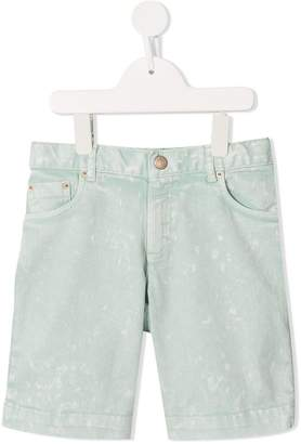 Bonpoint acid wash denim shorts
