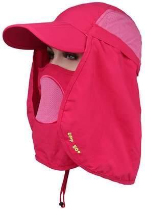 BeFur Unisex Summer Outdoor UV Protection Visor Sun Flap Cap Neck Face  Fishing Bucket Hat Wide ea277d012470