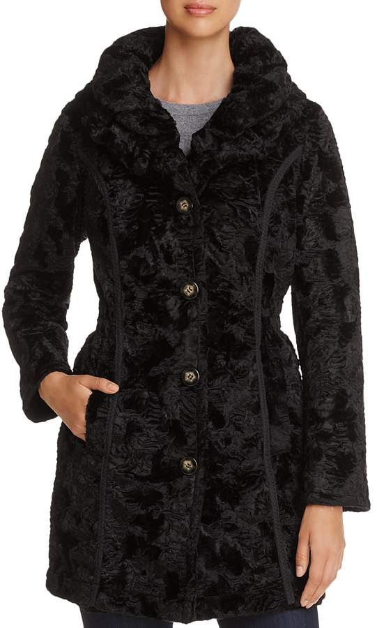 Reversible Faux Shearling & Quilted Coat
