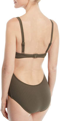 Seafolly Inka Ribbed One-Piece Maillot Swimsuit