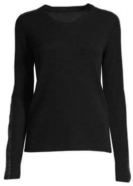 ATM Anthony Thomas Melillo Sparkle Cashmere Crewneck Sweater