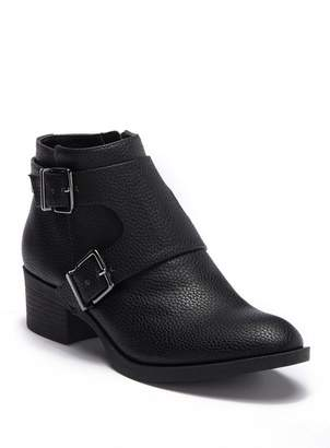 Kenneth Cole Reaction Re-Belle Monk Strap Leather Ankle Boot