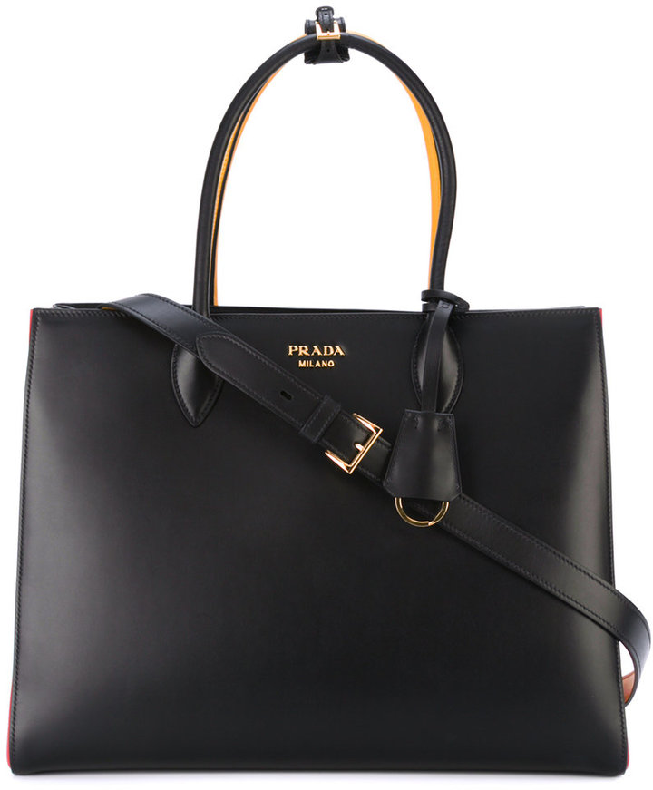prada Prada pleated laterals tote