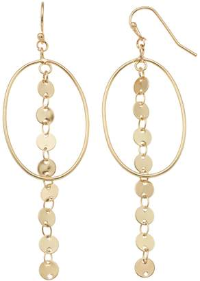 Lauren Conrad Open Circle & Disc Linear Drop Earrings