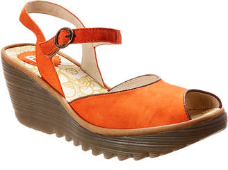 Fly London Yora Leather Wedge Sandal
