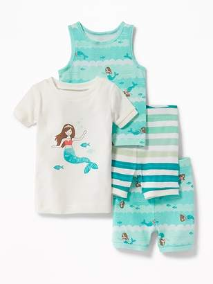 Old Navy Mermaid-Graphic 4-Piece Sleep Set for Toddler & Baby