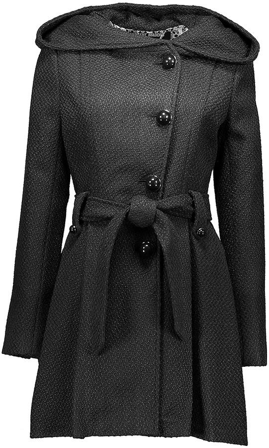 STEVE MADDENBlack Wide-Hood Trench Coat